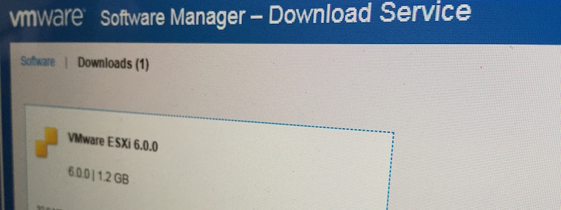 TIP : VMWare Software manager