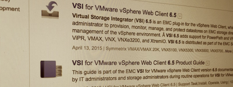 EMC VSI 6.5 is out : Enfin le support de VPlex !