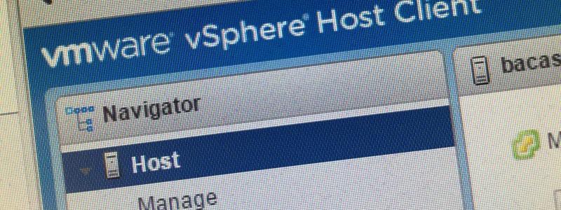 VMWare host client pour ESXi !