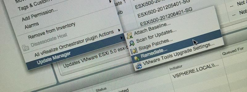 Update Manager 6U1 est désormais intégré à vSphere Web Client. Oui, mais …