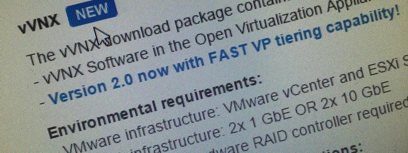 Virtual VNX 2.0 : vous prendrez bien du FastVP avec votre pool ?