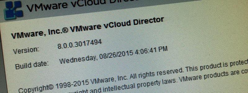 vCloud Director est toujours vivant en 2016 :)