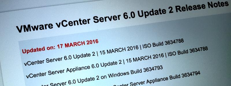 Les nouveautés de vSphere 6.0 u2 et vCD 8.0.1