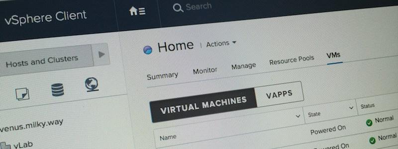 Voici le futur de l'administration vSphere : le Web Client HTML5