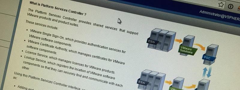 Déménager votre PSC vCenter 6 vers un nouveau serveur