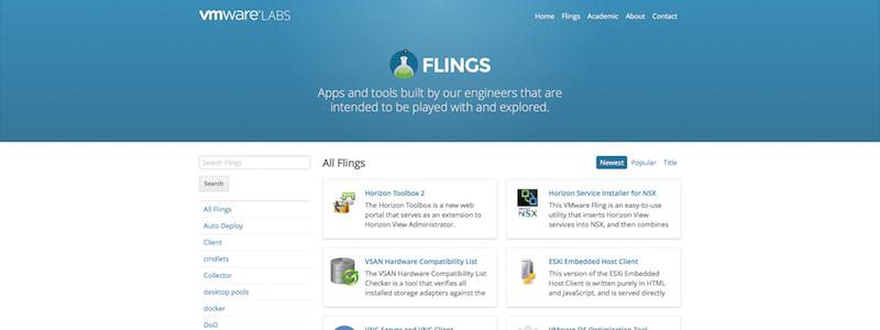 vSphere Web Client HTML5 sur Flings !