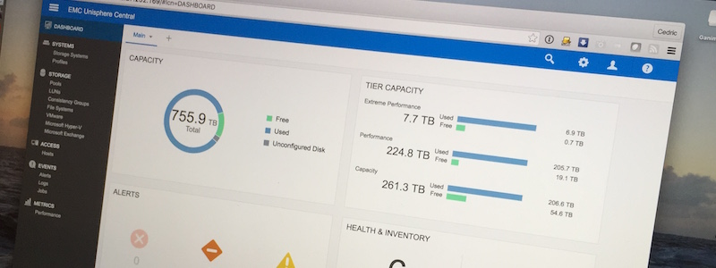 Unisphere Central : un peu d'HTML5 pour vos VNX