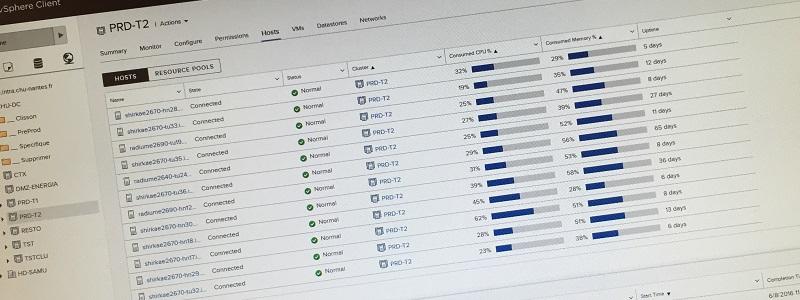 Etat du développement du client vSphere HTML5