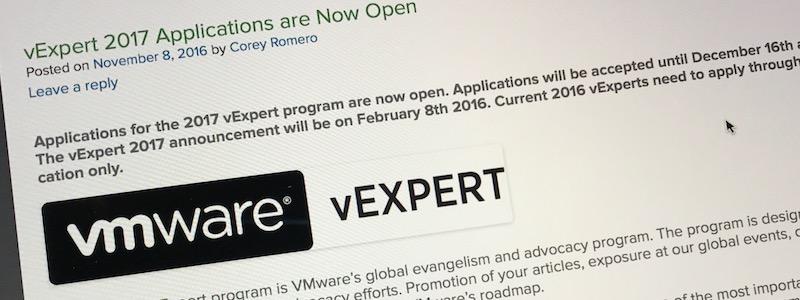 vExperts 2017 : les inscriptions sont ouvertes !