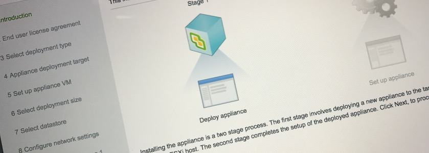 Installer vCenter 6.5 build 4602587 depuis macOS Sierra