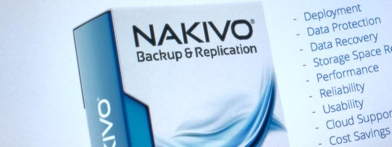 Nakivo Backup : compléments d'information et v7