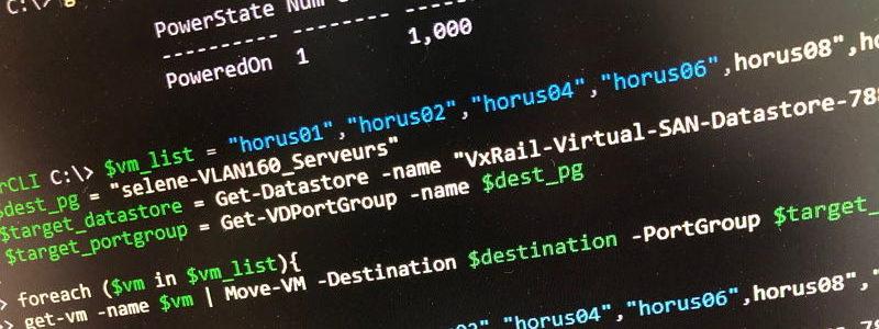 TIP : Déplacer un groupe de VMs via PowerCLI