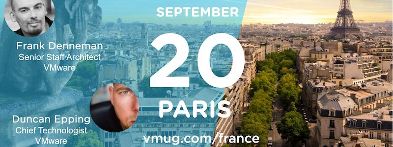 Prochain événement VMUG à Paris le 20 Septembre : des invités de marque !
