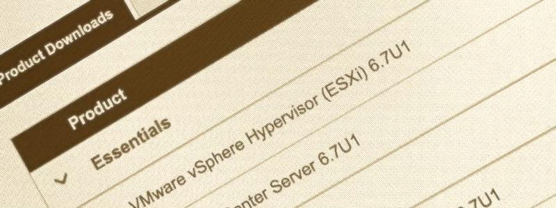 vSphere 6.7 update 1 est disponible !