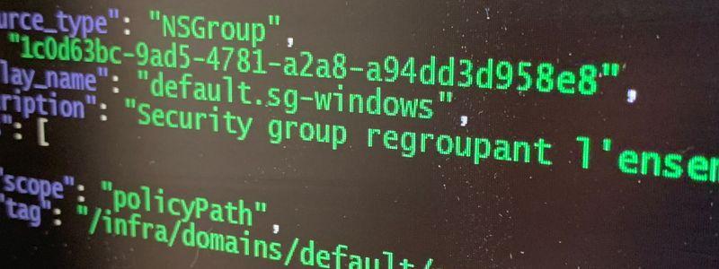 NSX-T pour les nuls, partie 4 : supervision via l'API ReST