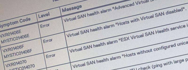 TIP : Liste des codes d'erreur VXRxxx sur VxRail 4.7.x
