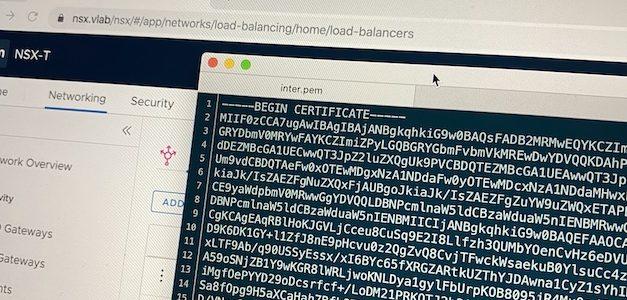 NSX-T : Du offloading SSL en 5 minutes