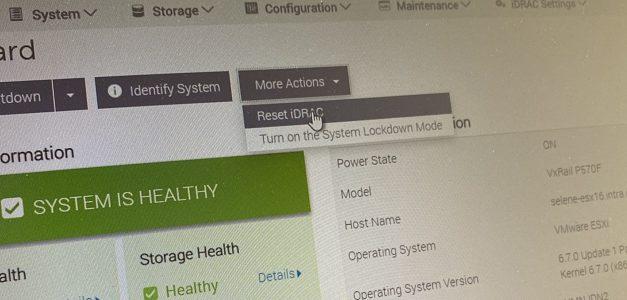 TIP : Quand l'IDSDM refuse de se mettre à jour sur VxRail
