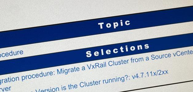 Déménagement d'un cluster VxRail d'un vCenter à un autre