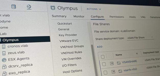 VSAN7 File Services :  plus facile, plus rapide, plus séduisant !